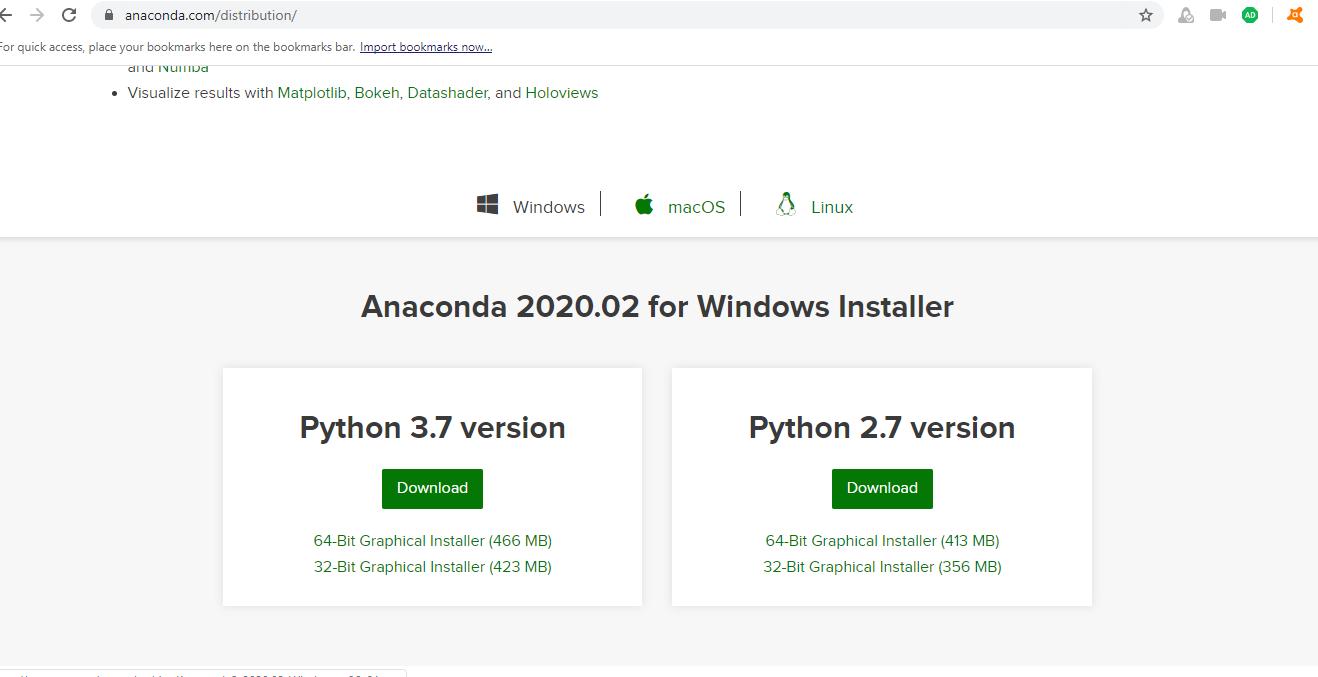 Installing latest python 3.7 version on windows