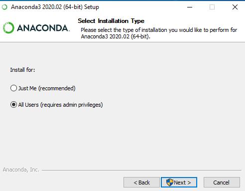 Anaconda Installation User Access