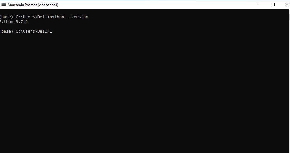 Checking Python Version in Anaconda Prompt