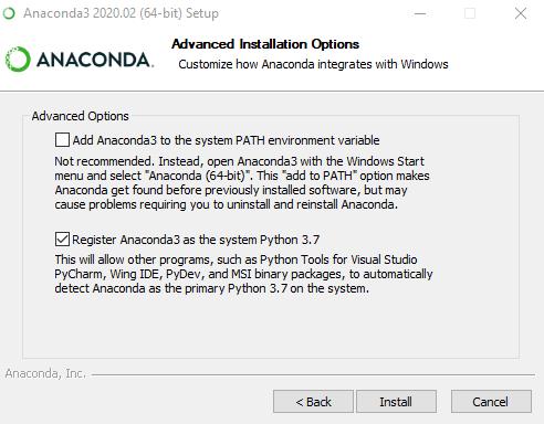 Advanced Installation Options for Anaconda