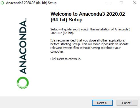 Anaconda3 setup